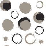 Cercles grunges sur le fond blanc Photo stock