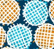 Cercles hachés par craie blanche sur le fond coloré illustration de vecteur