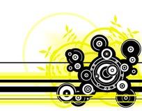 Cercles jaunes Images libres de droits