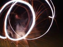 Cercles la nuit image stock