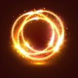 Cercles légers d'instantanúx et de lumières de cierge magique Photo libre de droits