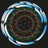 Cercles monétaires d'illustration Images libres de droits