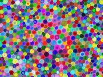Cercles multicolores Photographie stock