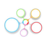 Cercles multicolores Photographie stock libre de droits