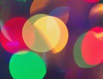 Cercles multicolores de fête colorés Photographie stock libre de droits
