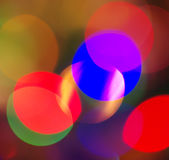 Cercles multicolores de fête colorés Photo stock