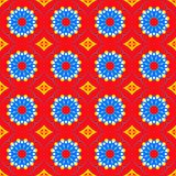 Cercles multicolores de modèle d'arabesque de fond illustration libre de droits