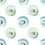 Cercles multicolores grunges sur le fond blanc illustration libre de droits