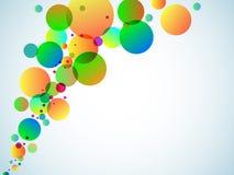 Cercles multicolores sur un fond blanc illustration de vecteur