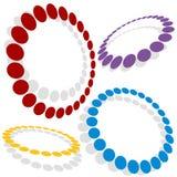 Cercles pointillés Photo libre de droits