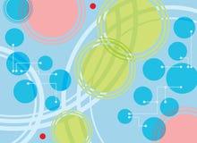Cercles, points et pointillé Image stock