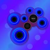 Cercles pour le texte Photo stock