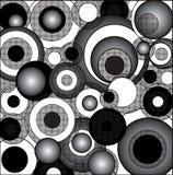 Cercles psychédéliques noirs et blancs Photo libre de droits