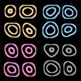Cercles réglés Photo libre de droits