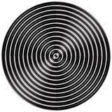 Cercles radiaux et concentriques abstraits, anneaux Photos libres de droits