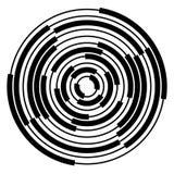 Cercles radiaux et concentriques abstraits, anneaux Photo libre de droits