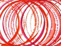 Cercles rouges Photo libre de droits