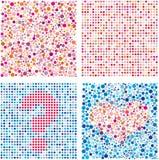 Cercles rouges et bleu-foncé Image stock