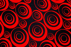 Cercles rouges et noirs abstraits Photo libre de droits