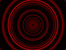 Cercles rouges rougeoyants Photographie stock
