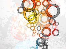 Cercles sales abstraits. Fond de vecteur Photos stock