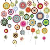 Cercles sur des ficelles Photographie stock