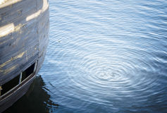 Cercles sur l'eau Photo stock