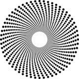 Cercles tramés Images libres de droits