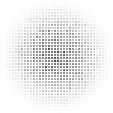Cercles tramés, modèle de points tramé Image tramée monochrome Image libre de droits