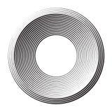 Cercles tramés noirs Images stock