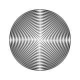 Cercles tramés noirs Image libre de droits