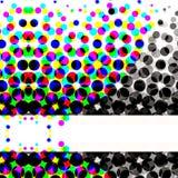 Cercles tramés colorés Photo stock