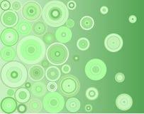 Cercles verts Photo stock