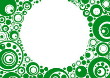 Cercles verts Image stock