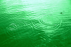 Cercles verts de l'eau Photo stock