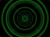 Cercles verts en plastique Image libre de droits