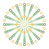 Cercles verts et oranges dans une boule Logo Design Images libres de droits