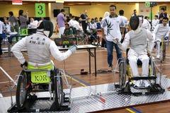 Cerco da cadeira de roda Foto de Stock Royalty Free