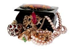Cercueil avec le bijou Image libre de droits