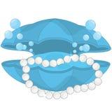 Cercueil collier de perle et de coquille délicieux de bivalve illustration libre de droits