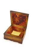 cercueil en bois Images stock