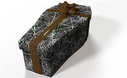 Cercueil formé par cadeau Photographie stock