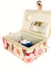 Cercueil pour la couture Photographie stock