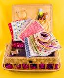 Cercueil pour la couture Photographie stock libre de droits