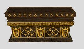 Cercueil royal Image libre de droits
