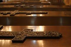 Cercueils dans Kremlin Image stock