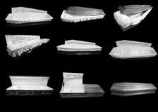 Cercueils en bois image libre de droits