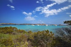 Cerdeña, Budelli, isla del archipiélago de Magdalena del La en Cerdeña del noreste, Sassari Imagenes de archivo