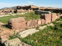 cerdeña Carbonia Monte Sirai Imágenes de archivo libres de regalías