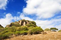 Cerdeña, Monte Arci imagenes de archivo